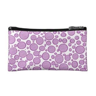 Purple Bubbles Lightened Makeup Bag
