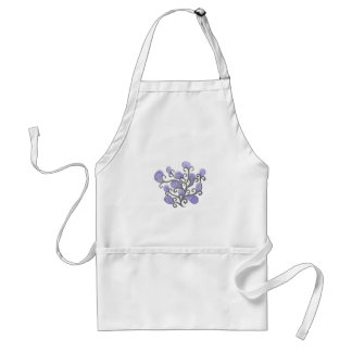 Purple Bud Flower Motif Aprons