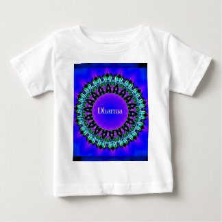 Purple Buddha Truths Darma Mandala Pattern Baby T-Shirt