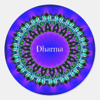 Purple Buddha Truths Darma Mandala Pattern Classic Round Sticker