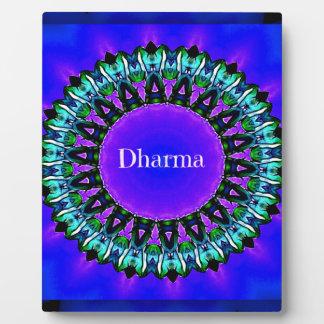 Purple Buddha Truths Darma Mandala Pattern Plaque