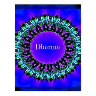 Purple Buddha Truths Darma Mandala Pattern Postcard