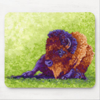 Purple Buffalo Mouse Pad