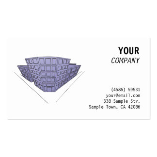 Purple buildings in perspective business card templates