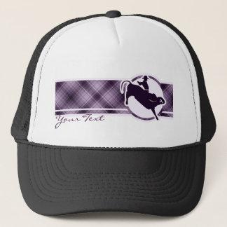 Purple Bull Rider Trucker Hat