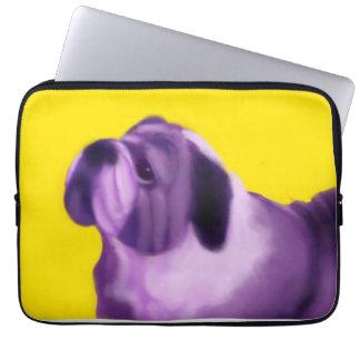 Purple Bulldog Laptop Computer Sleeves