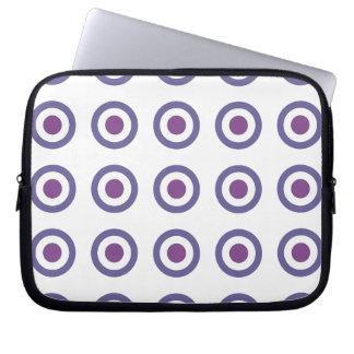 Purple Bulls-eye Laptop Computer Sleeves