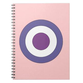 Purple Bulls-eye Note Books