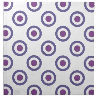 Purple Bulls-eye Printed Napkin