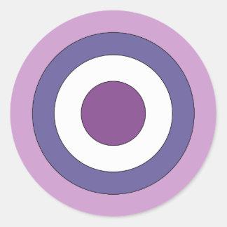 Purple Bulls-eye Round Sticker
