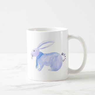 Purple Bunny In A Blue Scarf Coffee Mug