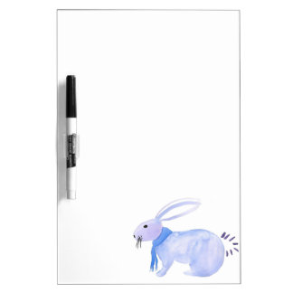Purple Bunny In A Blue Scarf Dry Erase Board