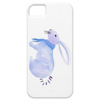 Purple Bunny In A Blue Scarf iPhone 5 Covers
