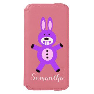 Purple bunny personalized iphone 6 wallet case incipio watson™ iPhone 6 wallet case