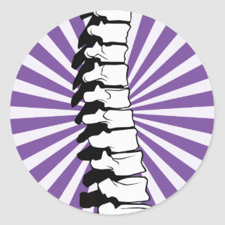Purple Burst Spine Stickers