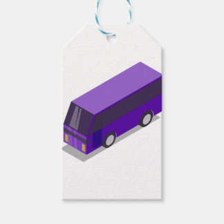 Purple Bus Gift Tags