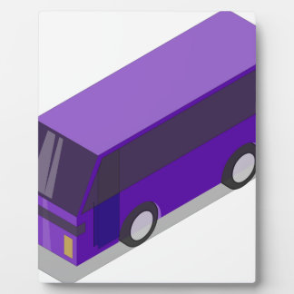 Purple Bus Plaque