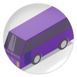 Purple Bus Plate