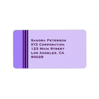Purple Business Stripes Address Label