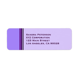Purple Business Stripes Return Address Label