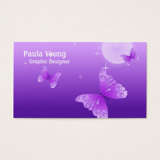 Purple Butterflies Business Card