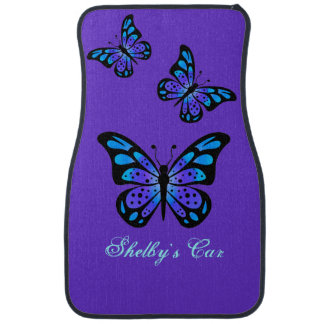 Purple Butterflies Custom Car Mats