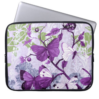 Purple Butterflies Electronics Bag Laptop Sleeves