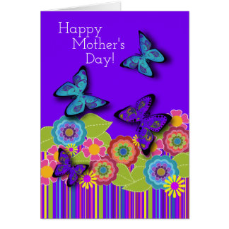 Purple Butterflies | Floral Beauty | Mother's Day Card