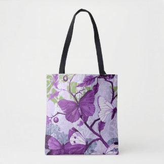 Purple Butterflies on a Branch Tote Bag