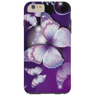 Purple Butterflies Tough iPhone 6 Plus Case