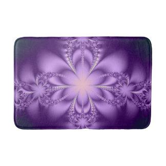 Purple butterflower bath mats