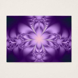 Purple butterflower business card