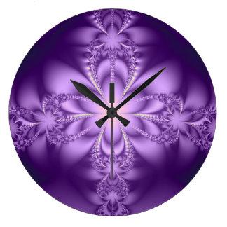 Purple butterflower clocks