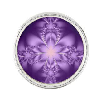 Purple butterflower lapel pin