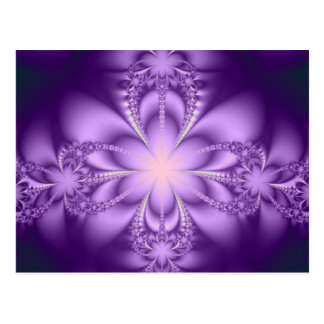 Purple butterflower postcard