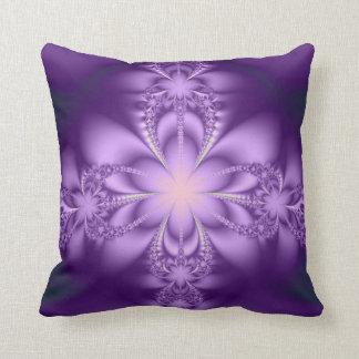Purple butterflower throw cushion