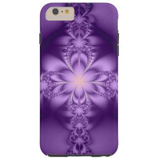 Purple butterflower tough iPhone 6 plus case