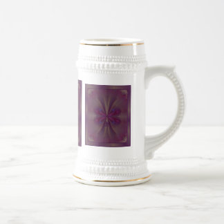 Purple Butterfly Abstract Art Beer Steins