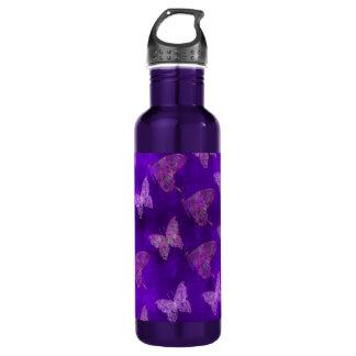 Purple Butterfly Art 710 Ml Water Bottle