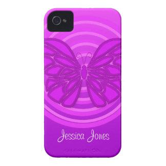 Purple butterfly BlackBerry Bold Case