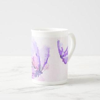 Purple Butterfly Bone China Mug