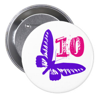 Purple butterfly button for age 10.
