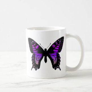 Purple Butterfly Coffee Cup Basic White Mug