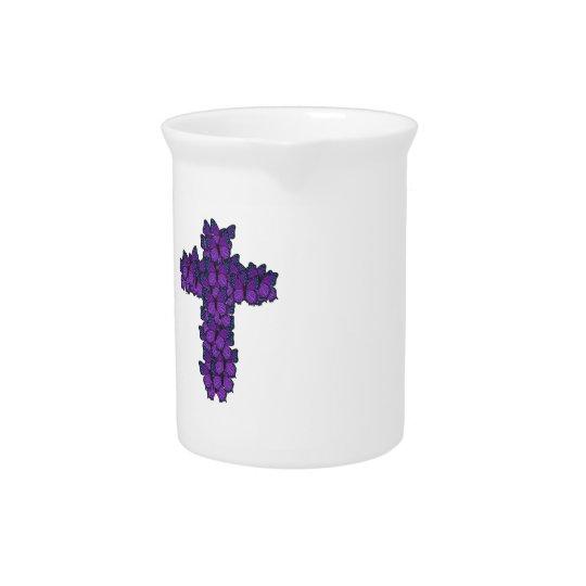 Purple Butterfly Cross Pitcher
