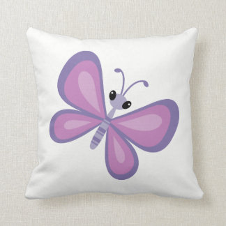 Purple Butterfly Decorative Cushion