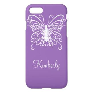 Purple Butterfly Design iPhone 7 Case
