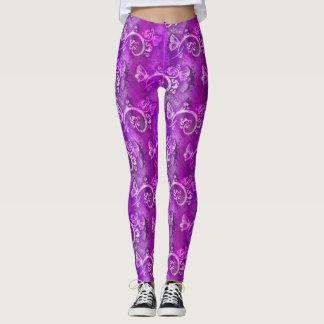 Purple Butterfly Design Leggings