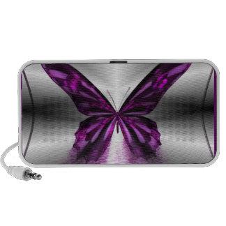 Purple Butterfly Doodle Mp3 Speakers