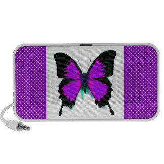 Purple Butterfly Doodle Speaker