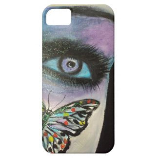 Purple Butterfly Eye iPhone 5/5S Covers